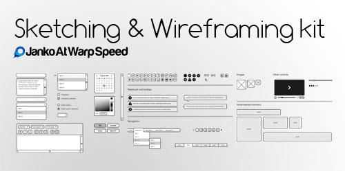 Free Sketching & Wireframing Kit : Janko Jovanovic